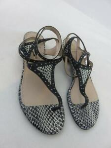 Lanvin Paris Snakeskin Flat Thong Sandals Studs Made In Italy Size 38 1/2 NWOB