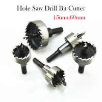 HSS Acier inoxydable Trou carbure foret Coupe Cercle Foret hélicoïdal 15-60 mm