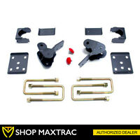 """MaxTrac Suspension 413710 1/"""" Rear Lowering Shackles for 2015-2018 Ford F-350 SD"""