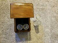 Vintage Ducks Unlimited Set of 4 12 Gauge Shot Glasses in Wooden Box