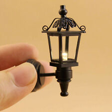 1/12 Dollhouse Black Coach Lamp Working Light Fashion Decor Tackle Cool Tool