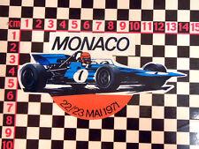 1971 MONACO GP autocollant CITROEN RENAULT ALPINE A110 MATRA DS 8 RENAULT 4 DJET MGC