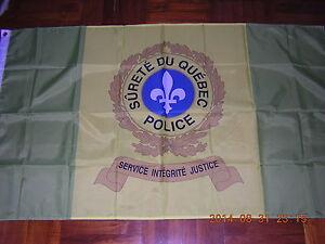 100% NEW British Empire Flag Canada Quebec Police Sûreté du Québec Ensign 3X5ft