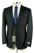 $2195 Canali 1934 Black Textured Wool Two Button Suit 42 R (52 EU) Classic Fit