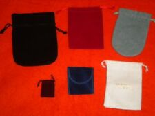 """Lot of 6 Jewelry Storage / Travel / Organizer Pouch / Bags 2"""" to 6 1/2"""" deep"""