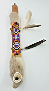 Authentic Native American Smokable Peace Pipe Handcrafted in USA 13 Inches Blue