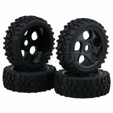 4 x Hex Hub 17mm 5 Hole RC1:8 Off-Road Car Wheel Rim & Prism Shaped Tire