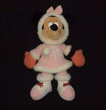 "Walt Disney World  Minnie Mouse Pink Winter Snowflake Dress 18"" RARE Plush  #299"