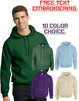 Personalised Embroidered Gildan Hooded Sweat Shirt  Men Custom Your Text GD057