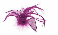 Purple fascinator& feathers,clip fascinator weddings, Prom
