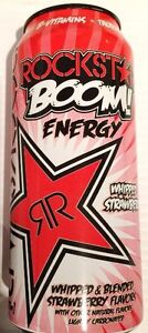 Rockstar Boom Energy - Whipped Strawberry   - 16oz.- CHOOSE YOUR PACK