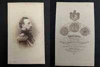 Bergamasco, St Pétersbourg, Grand Duc Nicolas, fils de Nicolas Ier CDV Vintage a