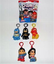 DC OOSHIES BAG TAGS SERIES 1 SET OF (5) BATMAN FLASH SUPERMAN & WONDER WOMAN