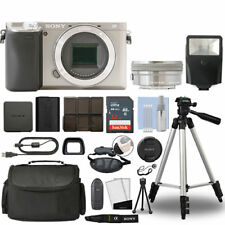Sony Alpha a6300 Mirrorless Digital Camera with 16-50mm Lens Silver+ 32GB Bundle
