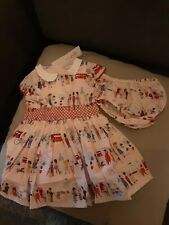 bnwt cath kidston london people powder pink dress with knickers aged 9/12 months