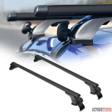 "Black 50"" Oval Adjustable Window Frame Roof Rack Rail Cross Bars Luggage Kit S11"