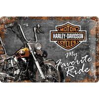 Blechschild Harley Davidson Ride,Nostalgie Schild 30 cm favorite Ride