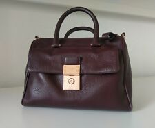 Ted Baker - Luggage Lock Leather Duffle Bag 'Oxblood'