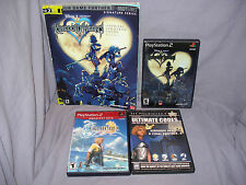 LOT - Kingdom Hearts w/ Strategy Guide, Final Fantasy X, Ultimate Codes (PS2)