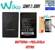BATTERIA TOP QUALITY PER WIKO LENNY 3  JERRY 1800 mAh 3702 7,6 Wh 3,8V  + VETRO