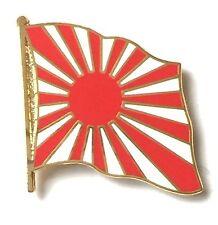 Japan War Rising Sun Flag Gold Plated Enamel Lapel Pin Badge