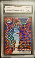 2019 Panini Mosaic Reactive Blue 207 Brandon Clarke Rookie Grizzlies GMA 10