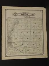 Iowa Palo Alto County Map Freedom Township  1908  J7#83