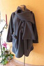 BORIS INDUSTRIES Fleece Mantel Schal-Kragen 46 48 50 EG NEU! grau LAGENLOOK