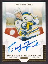2011-12 Panini Private Signings Hockey #LAF1 Pat LaFontaine Sabres Auto Sabres