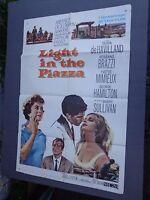 *  LIGHT IN THE PIAZZA-1 sheet movie poster-OLIVIA de HAVILLAND-BARRY SULL- 1961
