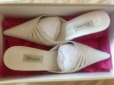 Dune Ladies Leather Cream/Ivory Shoes