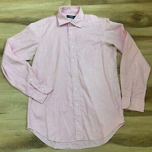 Kamakura Maker's Shirt Made in JAPAN Pink Gingham Dress Shirt 16 - 35