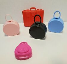 Barbie SUITCASE LOT Accessories Travel Bags Trunk Carry On Weekender Pilot Purse