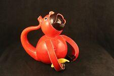 Mid-Century Red Ceramic Monkey with Banana