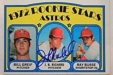 JR RICHARD BILL GRIEF RAY BUSSE 1972 TOPPS #101 ROOKIE SIGNED AUTOGRAPH 15B