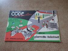 DISQUE PUBLICITAIRE 1960 PIERRETTE TEINTNET Le petit code de l'ecolier ROUTE