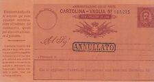 REGNO CARTOLINA VAGLIA 10 cent.1890 Nuova Catalogo FILAGRANO V1 TIPO C VEDI FOTO