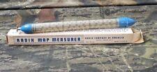 Vintage Radix Map Measurer Original Box Instructions Printed On Box B12