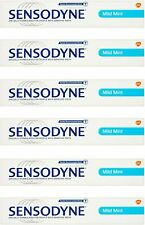 6 x Sensodyne Mild Mint 75ml Toothpaste Sensitive Teeth Daily Clean Healthy Gums