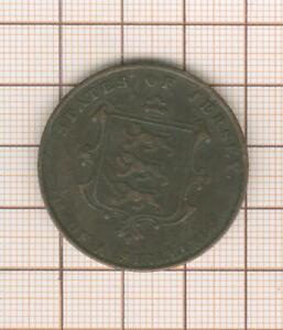 Jersey  1851 queen Victoria Large copper  coin 1/13 shilling
