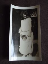 TODDLER SWALLOWED UP IN MOM'S DRESS VTG 1920's ABSTRACT OPTICAL ILLUSION PHOTO