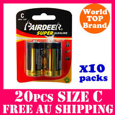 20PCS Super Alkaline C Battery LR14 PAIRDEER Premium Quality New Stock