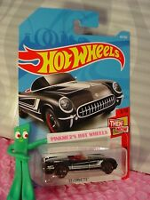 '55 CORVETTE Convertible #45✰black/red;mc5✰THEN AND NOW✰2018 i Hot Wheels case B