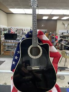 Esteban Signed American Legacy Limited Edition Midnight Steel Acoustic Guitar