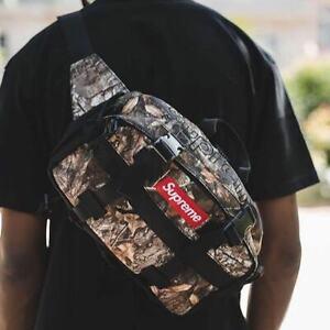 "Supreme Waistbag FW19 ""Real Tree"" One Size Bag Canvas Camo Shoulder Waistpack"