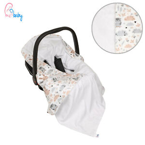 New Light White 100% Cotton Baby Wrap for Car Seat / Baby Car Seat Blanket
