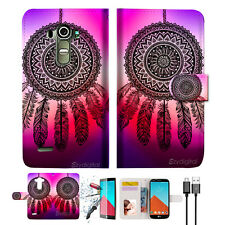 Dream Catcher Wallet TPU Case Cover For LG G4-- A027