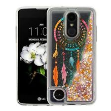 LG LV3 Aristo K8 Bling Hybrid Liquid Glitter TPU Protective Case Cover + Kit