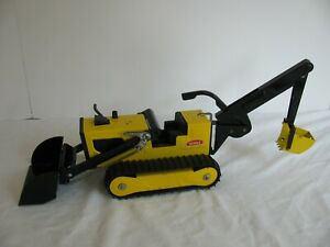Vintage 1974-75 Tonka Toys Yellow T-6 Trencher / Loader / Tractor #2534 VG