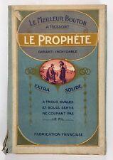 Mercerie 1910, boite de 4 plaques boutons pression Le Prophète, diam: 0,7, blanc
